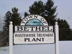 wastewater plant sign